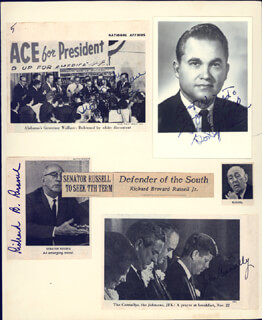 GEORGE C. WALLACE - COLLECTION WITH EVERETT M. DIRKSEN, JOHN B. CONNALLY JR., RICHARD B. RUSSELL