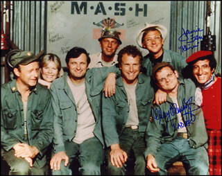 M*A*S*H TV CAST - AUTOGRAPHED SIGNED PHOTOGRAPH CO-SIGNED BY: GARY BURGHOFF, JAMIE FARR
