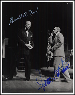 PRESIDENT GERALD R. FORD - AUTOGRAPHED SIGNED PHOTOGRAPH CO-SIGNED BY: JAMES WHITMORE