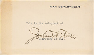 JOHN W. WEEKS - PRINTED CARD SIGNED IN INK