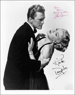 BAD AND THE BEAUTIFUL MOVIE CAST - AUTOGRAPHED INSCRIBED PHOTOGRAPH CO-SIGNED BY: LANA TURNER, KIRK DOUGLAS