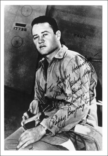 COLONEL GREG PAPPY BOYINGTON - AUTOGRAPHED INSCRIBED PHOTOGRAPH