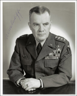 GENERAL ANTHONY C. MCAULIFFE - AUTOGRAPHED SIGNED PHOTOGRAPH