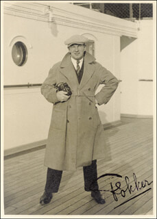 ANTHONY FOKKER - AUTOGRAPHED SIGNED PHOTOGRAPH