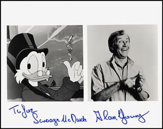 ALAN YOUNG - COMPOSITE PHOTOGRAPH SIGNED