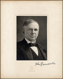 JOHN WANAMAKER - PHOTOGRAPH MOUNT SIGNED