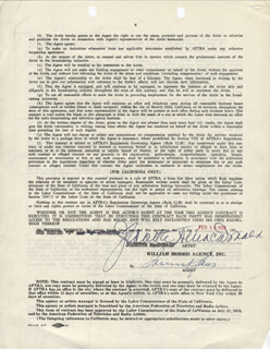 JEANETTE MacDONALD - DOCUMENT SIGNED 02/01/1956