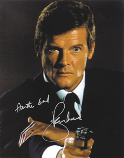 ROGER MOORE - AUTOGRAPHED SIGNED PHOTOGRAPH