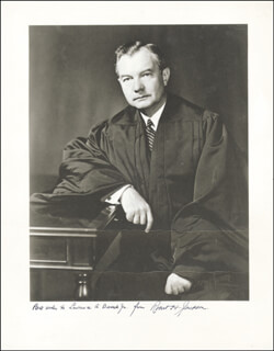 Autographs: ASSOCIATE JUSTICE ROBERT H. JACKSON - PHOTOGRAPH SIGNED