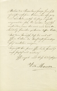 WILHELM MAUSER - AUTOGRAPH LETTER SIGNED 12/23/1878