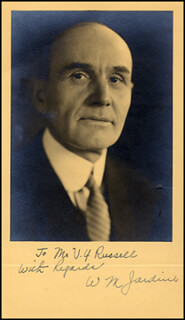 Autographs: WILLIAM M. JARDINE - INSCRIBED PHOTOGRAPH SIGNED