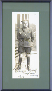 Autographs: LT. GENERAL LEONARD WOOD - PHOTOGRAPH SIGNED 1919
