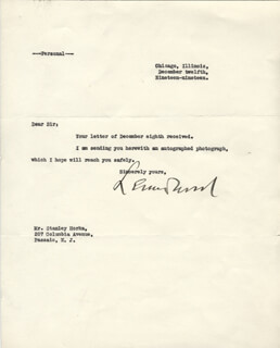 LT. GENERAL LEONARD WOOD - TYPED LETTER SIGNED 12/12/1919