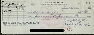 CARLO DON CARLO GAMBINO - AUTOGRAPHED SIGNED CHECK 06/25/1962 CO-SIGNED BY: HENRY SALTZSTEIN