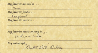 BILL BULLETT BILL DUDLEY - ANNOTATED QUESTIONNAIRE SIGNED