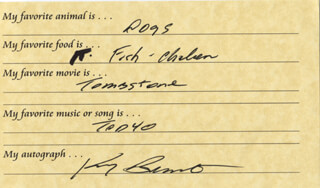 KENNY BERNSTEIN - QUESTIONNAIRE SIGNED