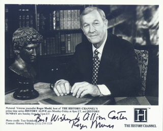 ROGER MUDD - AUTOGRAPHED INSCRIBED PHOTOGRAPH