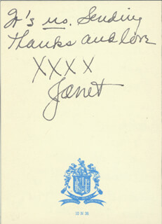 JANET GAYNOR - AUTOGRAPH LETTER SIGNED