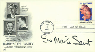 EVA MARIE SAINT - FIRST DAY COVER SIGNED