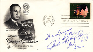 THE LENNON SISTERS - FIRST DAY COVER SIGNED CO-SIGNED BY: THE LENNON SISTERS (KATHY LENNON), THE LENNON SISTERS (JANET LENNON), THE LENNON SISTERS (PEGGY LENNON), THE LENNON SISTERS (DIANNE LENNON)
