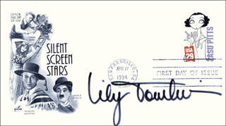 LILY TOMLIN - FIRST DAY COVER SIGNED