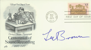 LES BROWN - FIRST DAY COVER SIGNED
