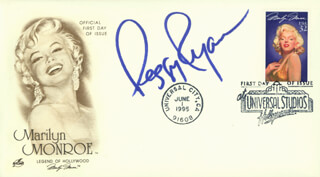 PEGGY RYAN - FIRST DAY COVER SIGNED