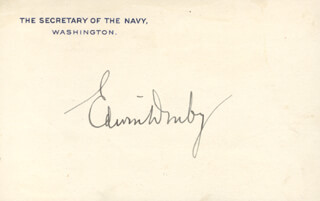 Autographs: EDWIN DENBY - PRINTED CARD SIGNED IN INK