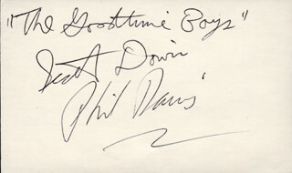 Autographs: THE GOODTIME BOYS - SIGNATURE(S) CO-SIGNED BY: PHIL DAVIS, SCOTT DAVIS