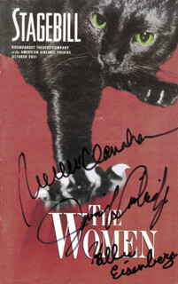 THE WOMEN BROADWAY CAST - PROGRAM SIGNED CO-SIGNED BY: RUE McCLANAHAN, HALLIE KATE EISENBERG, JENNIFER COOLIDGE
