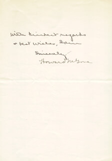 Autographs: HOWARD M. GORE - AUTOGRAPH LETTER SIGNED 06/16/1925