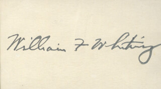 WILLIAM F. WHITING - AUTOGRAPH
