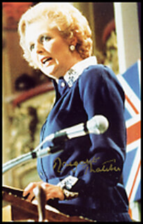 PRIME MINISTER MARGARET THATCHER (GREAT BRITAIN) - AUTOGRAPHED SIGNED PHOTOGRAPH