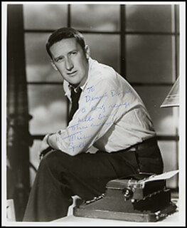 MICKEY SPILLANE - AUTOGRAPHED INSCRIBED PHOTOGRAPH