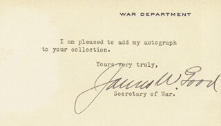 Autographs: JAMES W. GOOD - TYPED NOTE SIGNED