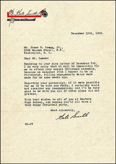 KATE SMITH - TYPED LETTER SIGNED 12/13/1935