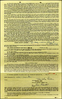 MISCHA AUER - DOCUMENT SIGNED 10/15/1958