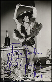 SENTA BERGER - AUTOGRAPHED INSCRIBED PHOTOGRAPH