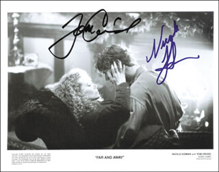 FAR AND AWAY MOVIE CAST - AUTOGRAPHED SIGNED PHOTOGRAPH CIRCA 1991 CO-SIGNED BY: TOM CRUISE, NICOLE KIDMAN
