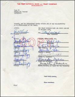 Autographs: DORIS DAY - DOCUMENT SIGNED 10/22/1958 CO-SIGNED BY: KIRK DOUGLAS, MARTIN MELCHER