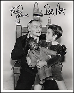 THE MUNSTERS TV CAST - AUTOGRAPHED SIGNED PHOTOGRAPH CO-SIGNED BY: AL LEWIS, BUTCH PATRICK