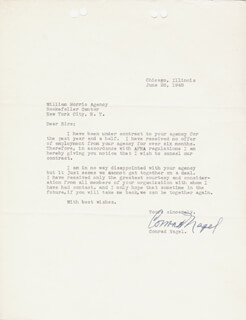 CONRAD NAGEL - TYPED LETTER SIGNED 06/28/1948