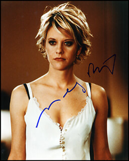 MEG RYAN - AUTOGRAPHED SIGNED PHOTOGRAPH