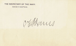 Autographs: CHARLES FRANCIS ADAMS III - PRINTED CARD SIGNED IN INK