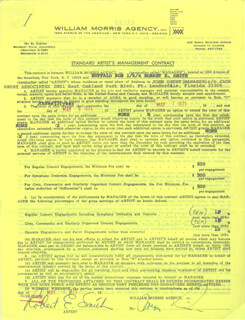BUFFALO BOB SMITH - DOCUMENT SIGNED 05/07/1971