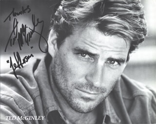 TED McGINLEY - AUTOGRAPHED SIGNED PHOTOGRAPH