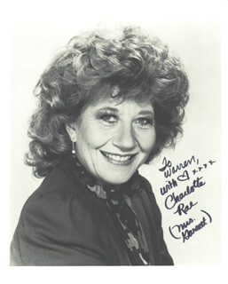 CHARLOTTE RAE - AUTOGRAPHED INSCRIBED PHOTOGRAPH