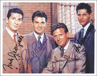 UNTOUCHABLES TV CAST - AUTOGRAPHED SIGNED PHOTOGRAPH CO-SIGNED BY: PAUL PICERNI, NICK GEORGIADE, ABEL FERNANDEZ