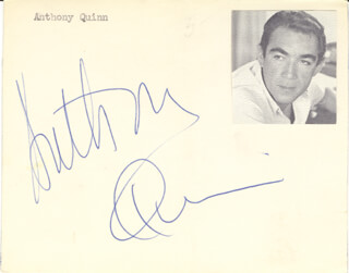 ANTHONY QUINN - AUTOGRAPH