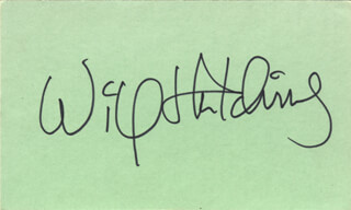 WILL SUGARFOOT HUTCHINS - AUTOGRAPH